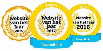 Website van het jaar 2015, 2016 en 2017