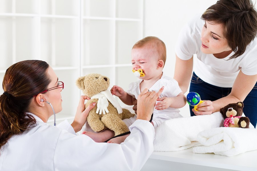Baby heeft last van zesde ziekte