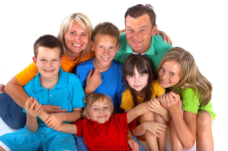 Groot gezin met 5 kinderen