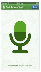 Babyfoon app spreek tegen je baby