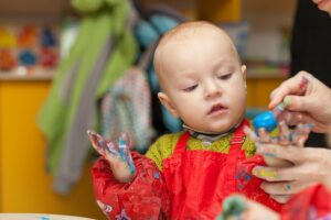 Vaderdag cadeau knutselen met baby