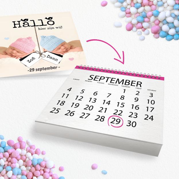 Shoptip 10 weken zwanger, kaartje2go uitgerekende datum