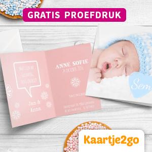 Shoptip 29 weken zwanger, gratis proefdruk bij Kaartje2go