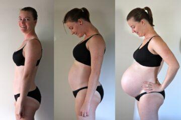 Zwangere buik foto