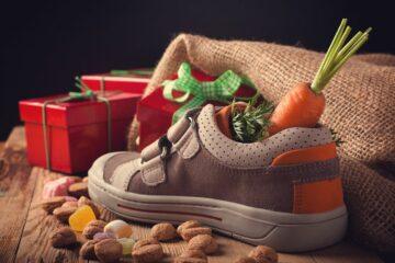 gevulde babyschoen voor het vieren van Sinterklaas met je baby