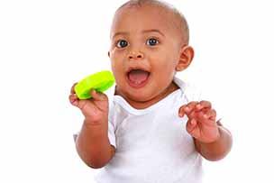 Baby 9 maanden oud is rechtshandig