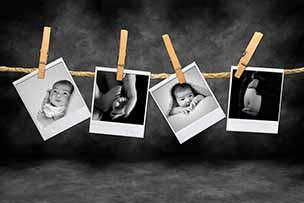 Een hoop foto's na je baby's eerste 12 maanden