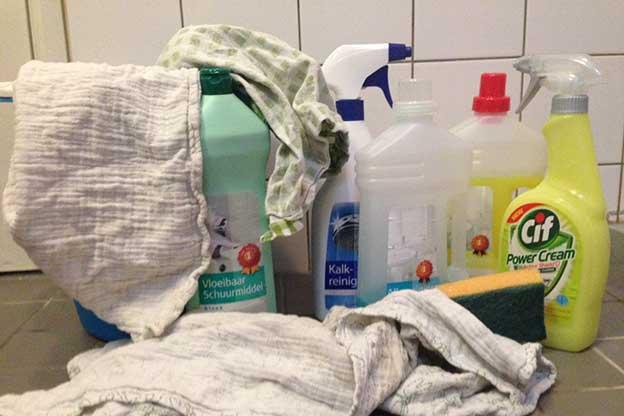 Hydrofiele luiers dienen als schoonmaakdoeken