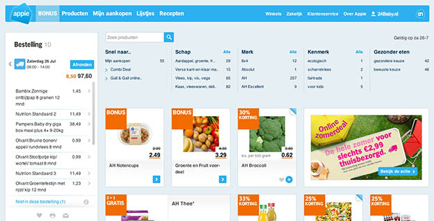Online boodschappen doen bij ah.nl