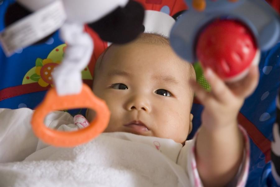 babybrein ontwikkelt, baby leert