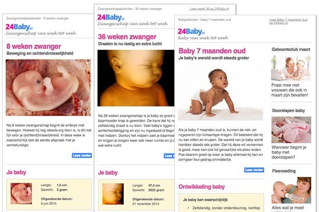 Nieuwsbrief zwanger en baby van week tot week