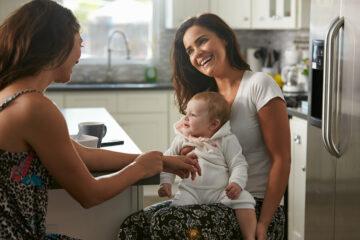 Lesbisch koppel met baby