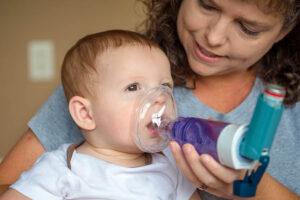 Baby besmet met het RS-virus