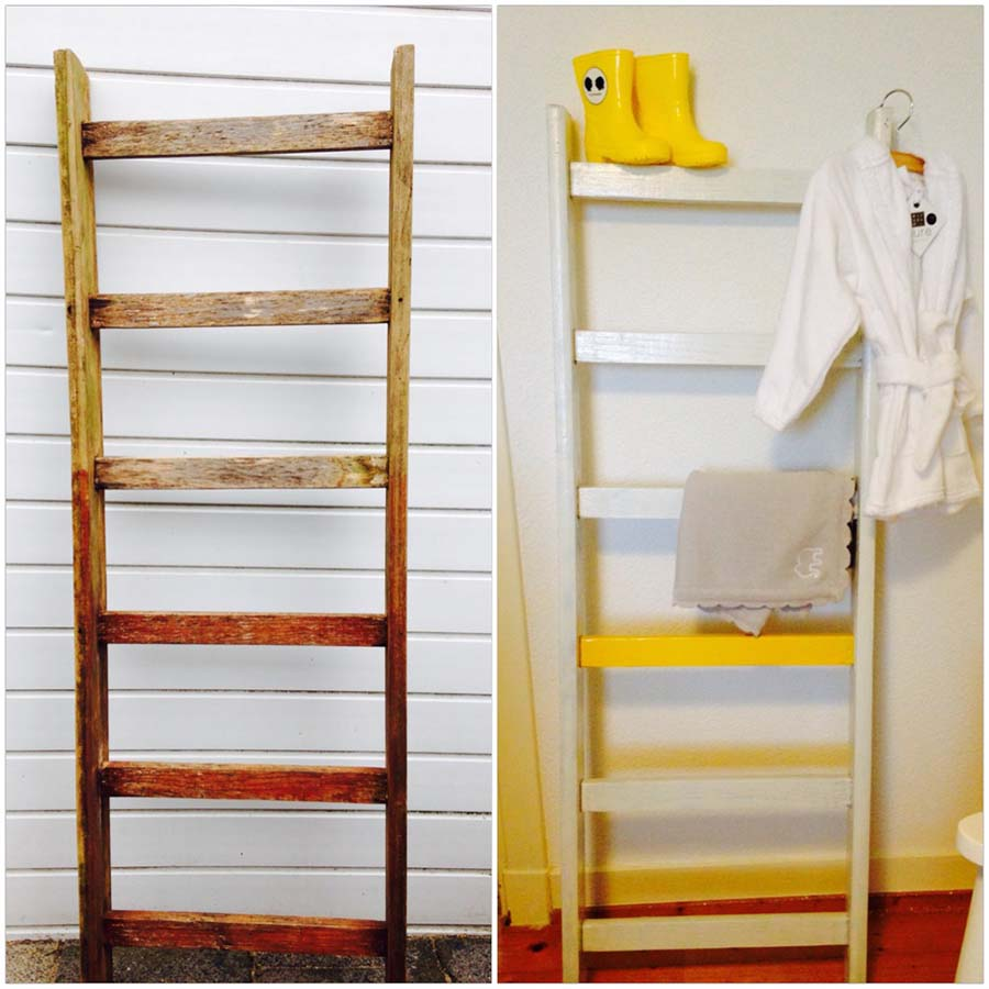 De ladder voor in de babykamer, before and after