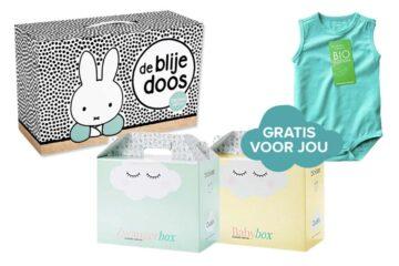 Gratis babydozen: de blije doos, zwanger box en baby box
