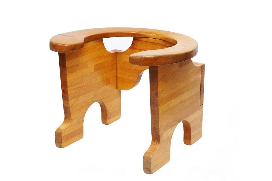 De vorm van de baarstoel