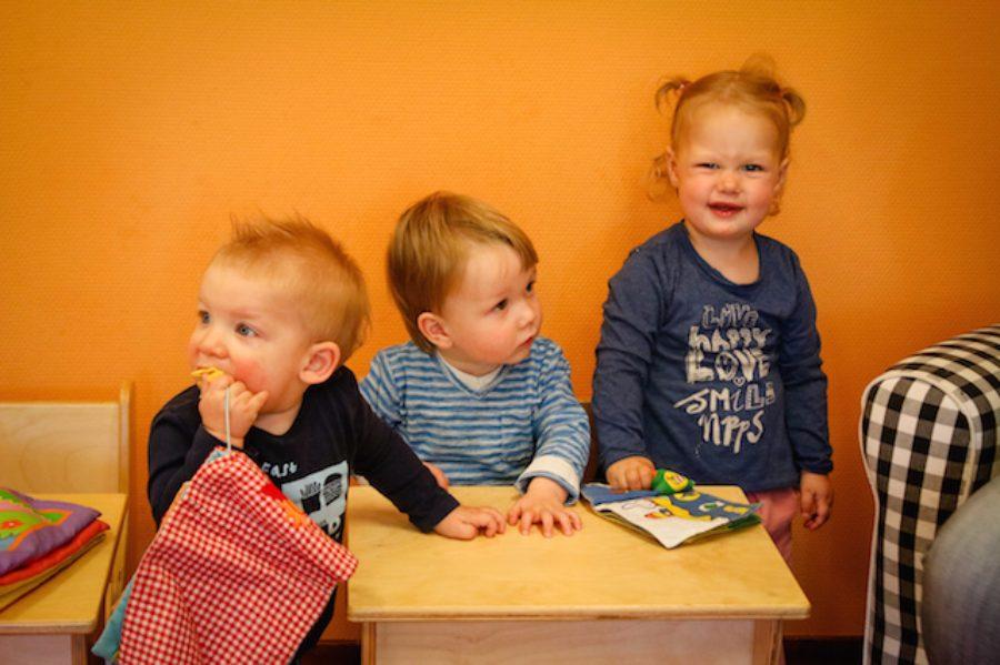 3 kinderen bij kinderopvang