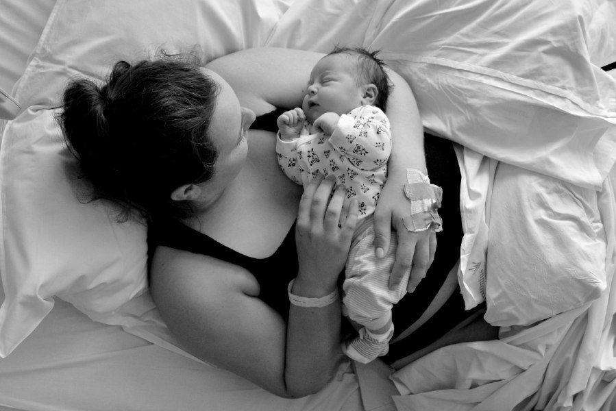 Bevallingsverhaal Chantal moeder met pasgeboren baby