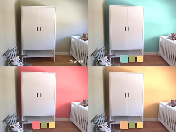 De juiste kleur voor je babykamer met de flexa kleurtester for Kleur kinderkamer