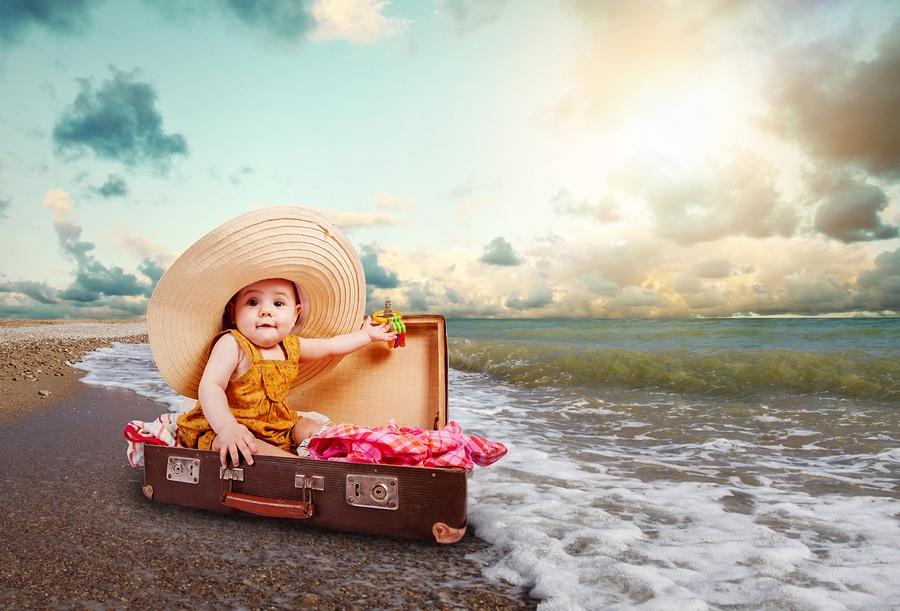 Baby op reis met paspoort
