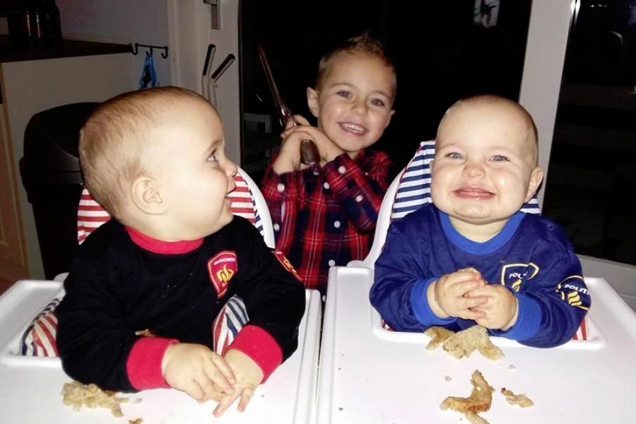 De drie zoontjes van blogger Kelly