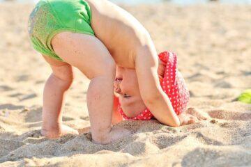 baby strand, evenwichtsgevoel