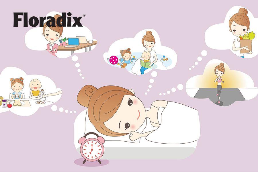 hoofdfoto floradix - moeder wordt vol energie wakker door Floradix
