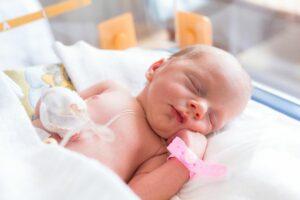 Ziek kindje in ziekenhuis