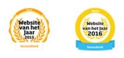 logo's website van het jaar 2015 en 2016