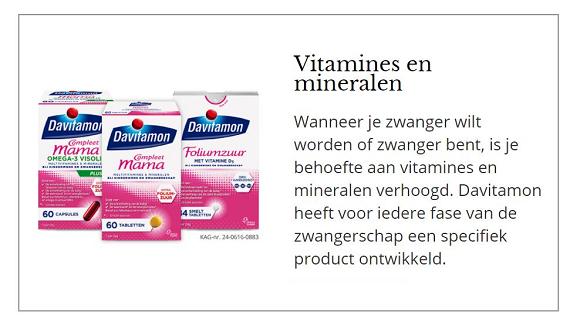 tip zwangerschap vitamines en mineralen