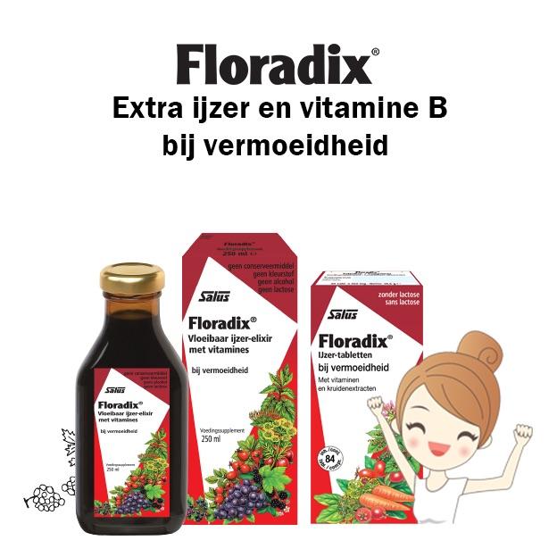 Floradix producten geven je extra ijzer en vitamine B voor meer energie