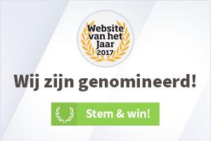 Wij zijn genomineerd als website van het jaar