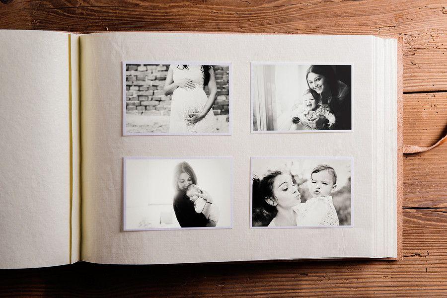 Foto-album van baby van 12 maanden oud