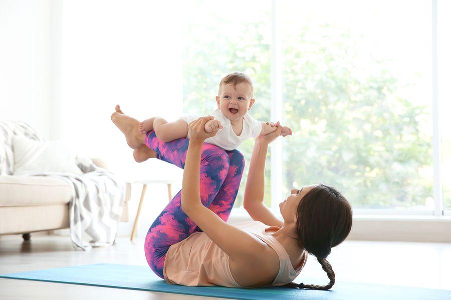 sporten na de bevalling met baby