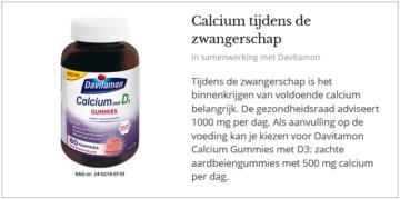 Calciumgummies tijdens de zwangerschap