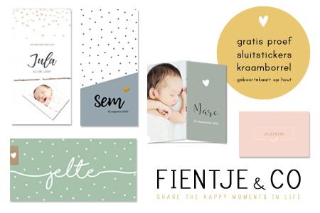 Fientje&Co geboortekaartjes