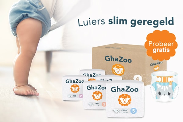 Ghazoo gratis luier proefpakket lopen