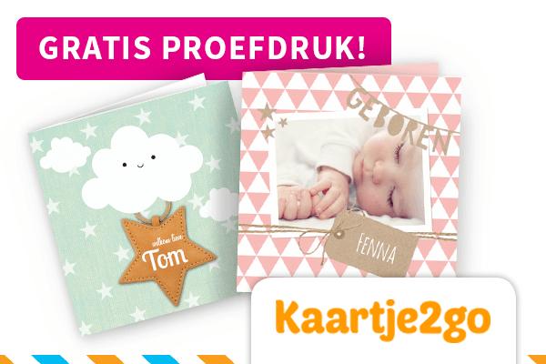 29 weken zwanger, Gratis proefdruk geboortekaartje bij Kaartje2go