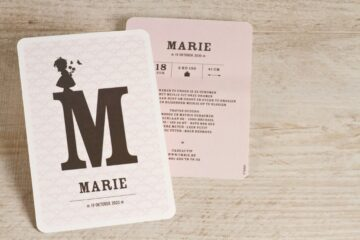geboortekaart jongens en meisjes letterkaart