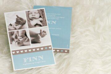 geboortekaartje met foto collage van Tadaaz