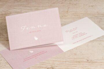 roze geboortekaartje van Tadaaz