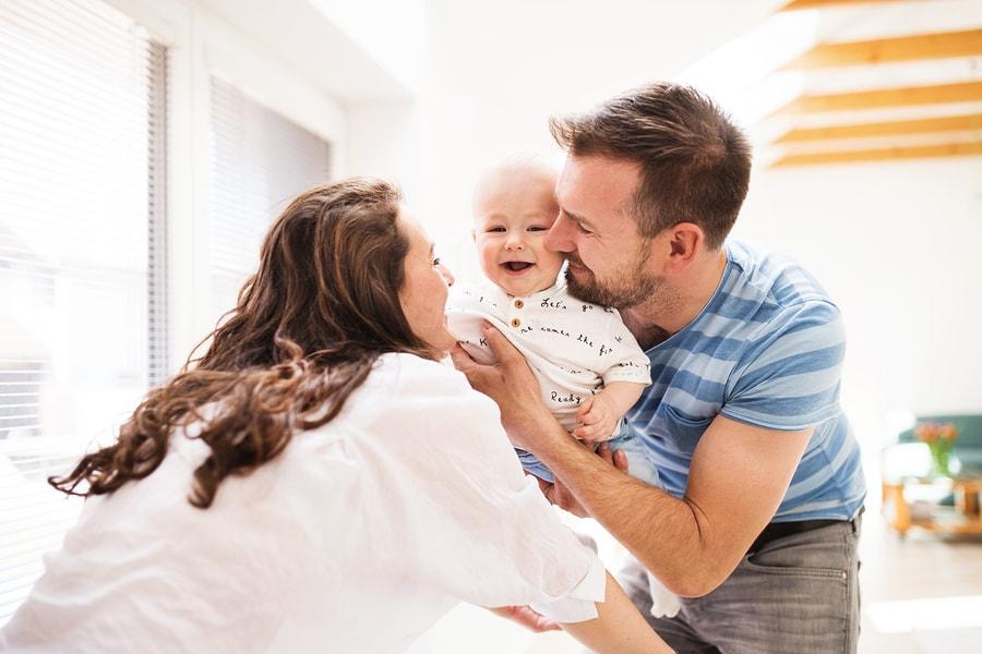 Baby 8 weken oud, sparen