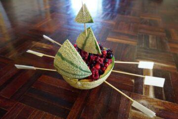 Gezond tussendoortje: Fruitbootje