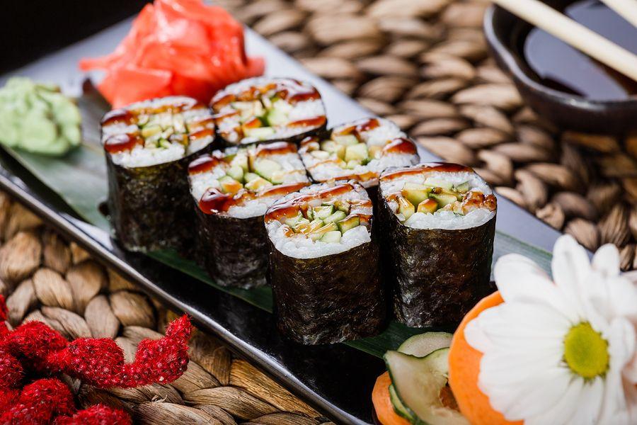 Sushi met vegetarische vulling mag als je zwanger bent