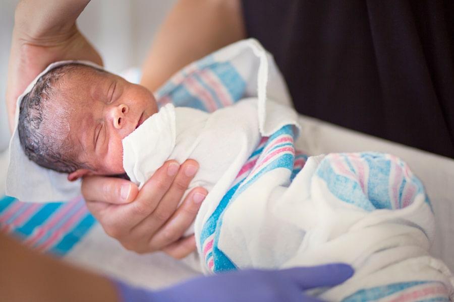 Vroeg geboren baby