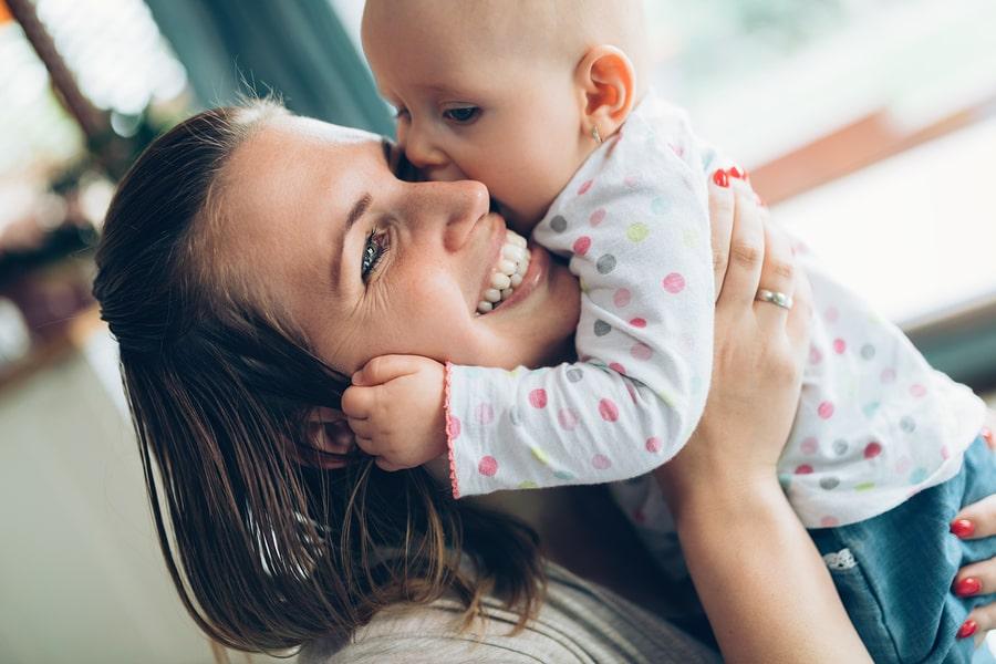 Eerste kus baby