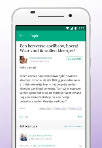 Forum op zwangerschaps app