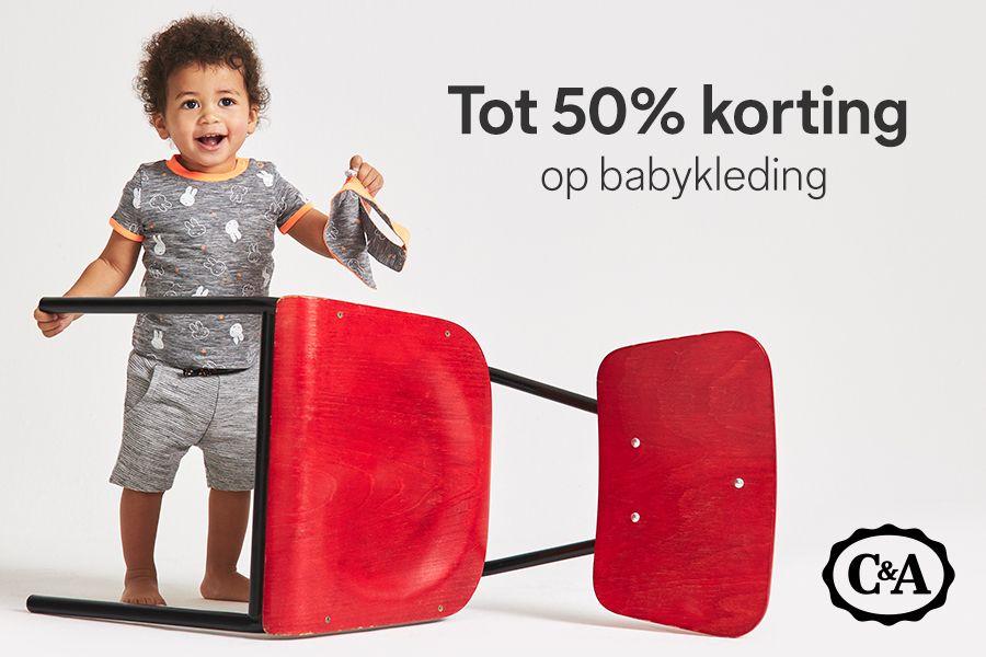 babykleding 50% korting bij C&A